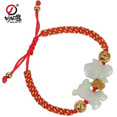 麦玲玲2019猪年开运红绳子手链十二生肖手绳手串吉祥物
